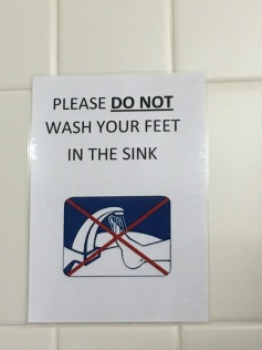 Ayers Rock airport bathroom