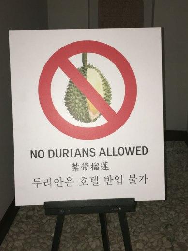 sign at hotel