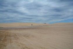 Port Stephens: port-a-potty in sand dune