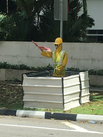 not a sign, but a traffic dummy