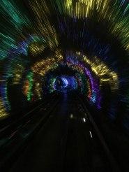 light tunnel in Shanghai
