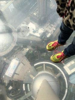 glass floor, TV Tower observation deck