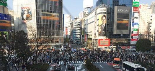 street crossing in Shibuya, Tokyo, Japan
