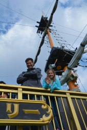 Todd and Lucy, boat on Lake Ashi