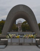 A-bomb Dome as seen through memorial, Hiroshima