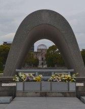 A-bomb Dome as seen through memorial, Hiroshima