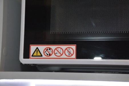 on a microwave...feet??