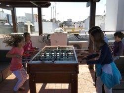 rousing game of foosball