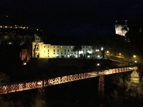 Cuenca parador with bridge in front