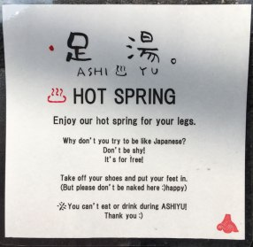 hot spring in front of restaurant
