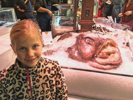 Nati in Madrid market