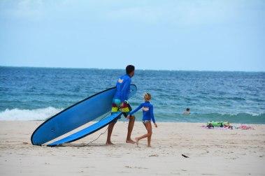Surfing lesson, Noosa, Australia