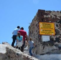 warning signs are optional, Santorini, Greece