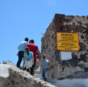 warning signs are optional, Santorini, Greece