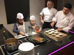 making paella, Le Meridien, Barcelona