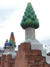 chimneys of Palau Güell, Barcelona