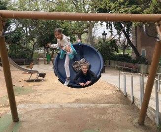 """""""paella"""" swing, Ciutadella Park, Barcelona"""
