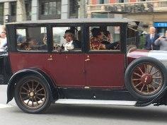 random vintage car parade, Barcelona