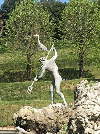 Neptune and his pet crane, Boboli Gardens