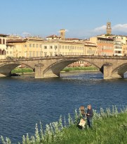 artist on the banks of the Arno