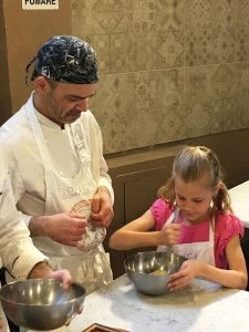 whisking eggs with sugar