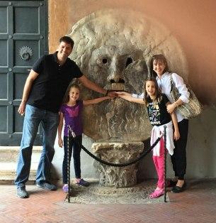 Bocca della Verità, Rome (with guide's finger)