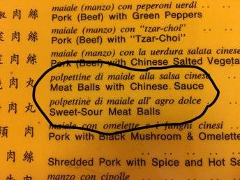 Chinese/Italian fusion?