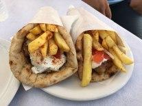delicious gyros, Santorini