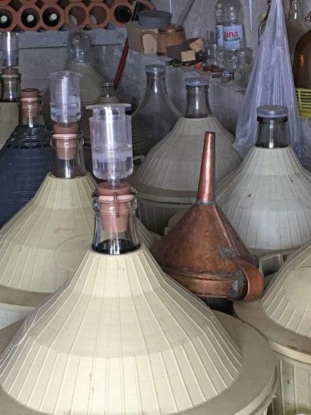 tour guide's wine production, Trogir, Croatia