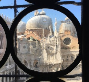 through window in Doge's Palace, Venice