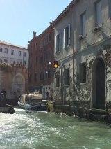 stop light on canal, Venice