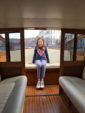on water taxi, Venice
