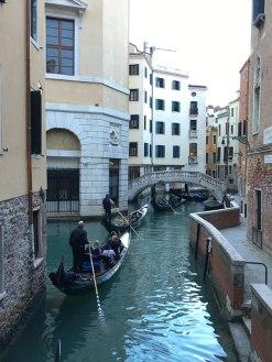 gondola traffic, Venice