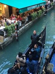 singing opera from gondola, Venice