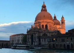 sun setting over Santa Maria della Salute, Venice