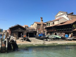 where gondolas are built and repaired, Venice
