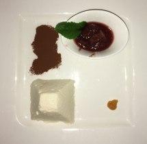Mozart silhouette in cocoa powder