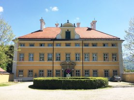 Frohnburg Palace, used as the front of the von Trapp home in Sound of Music
