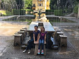 trick fountains, Hellbrunn Palace