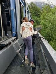 evacuating cable car, Innsbruck