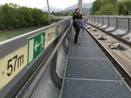 walking toward emergency exit, Innsbruck