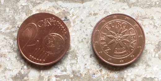 Austrian euro coin