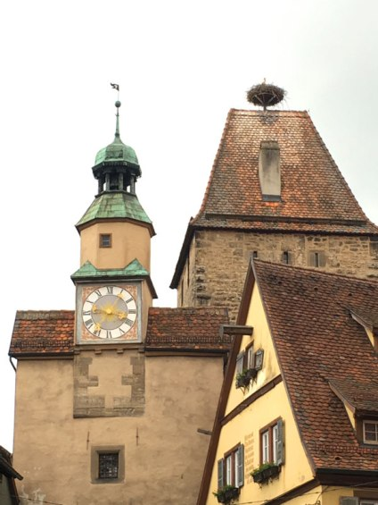 stork nest, Rothenburg