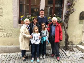 with Gundula and Werner, Rothenburg