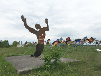 artwork at old East/West German border