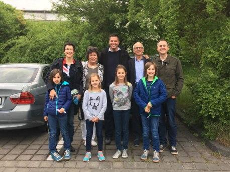 with Richter family, Munnerstadt