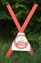 anti-wind mill sign, Sababurg