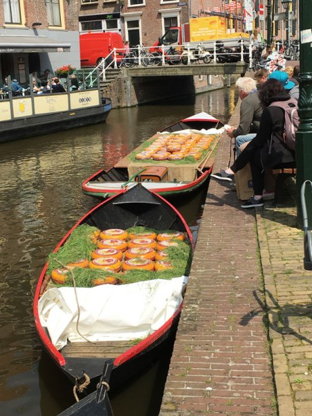 cheese on boat in canal