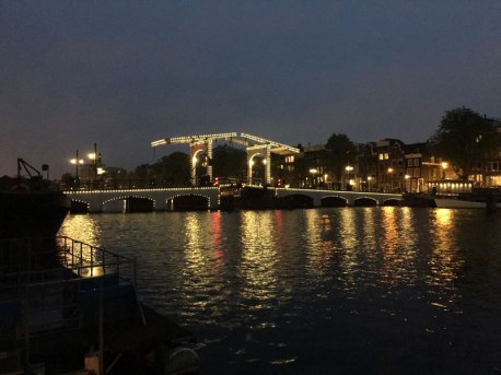 view from houseboat, Amsterdam