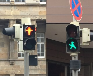 walk/don't walk signals, Kassel